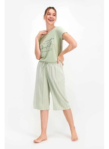 Arnetta Perfect Soluk Mint Kadın Kapri Takım Yeşil
